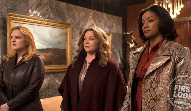 rainhas do crime Elisabeth Moss, Melissa McCarthy e Tiffany Haddish