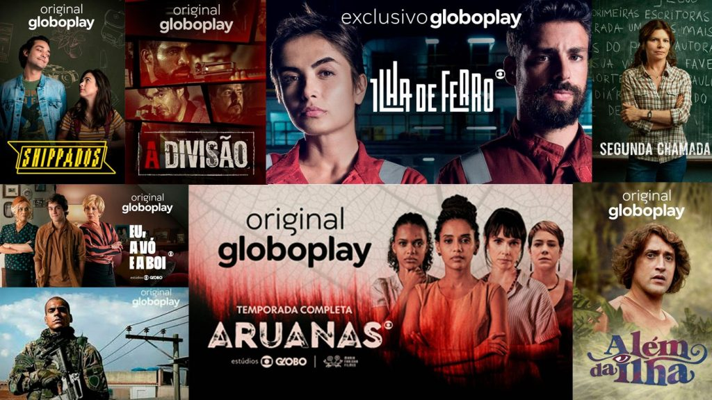 Quibi, Crackle, Starzplay, Globoplay, À La Carte (streaming com filmes clássicos e independentes, do cinema de rua Belas Artes, aqui de São Paulo), Peacock, Apple TV+, Hulu, Disney+, Amazon Prime Video, Netflix, HBOMax, CBS All Access.