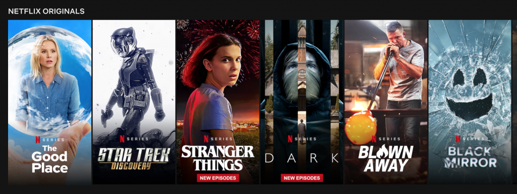 Séries originais Netflix
